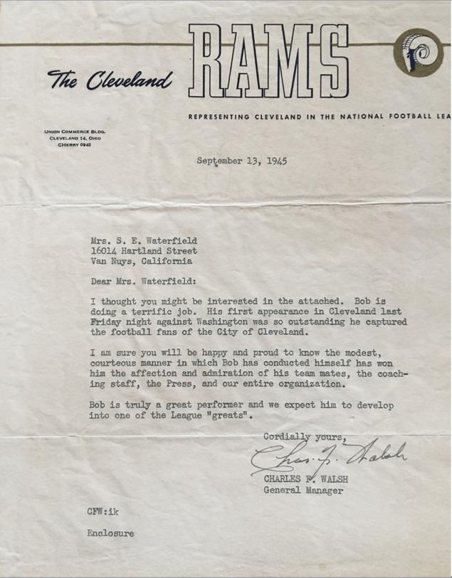 1945 Waterfield Letter