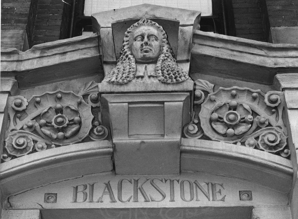 Entrance to the Blackstone