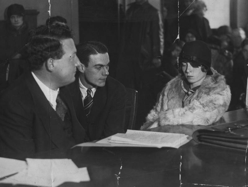 Velma West in Court, 1927