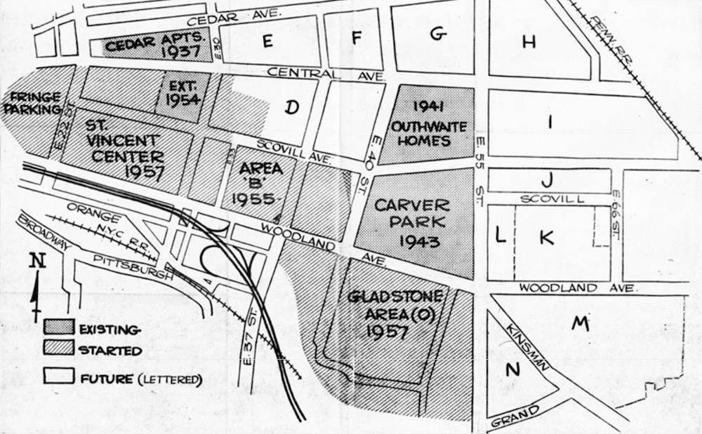 Urban Renewal Areas, 1957