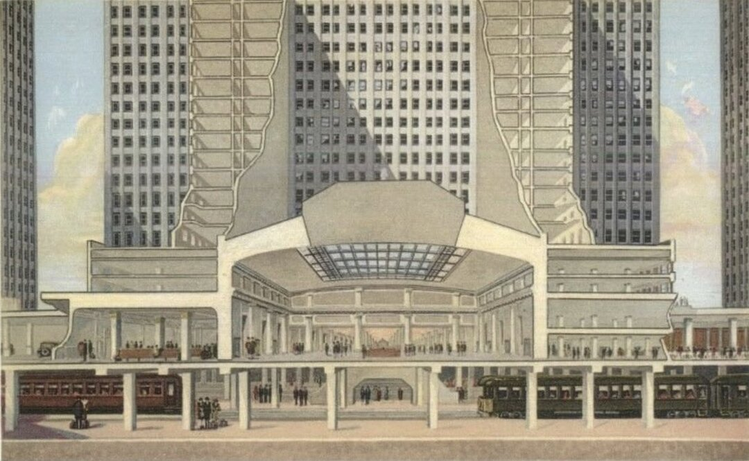 Cross-Sectional View of Union Terminal