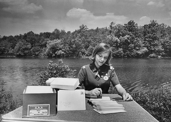 Girl Scout at Shaker Lake, 1967