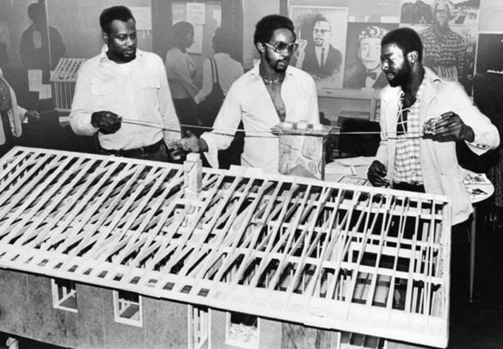 Students Learning Construction Skills, 1981