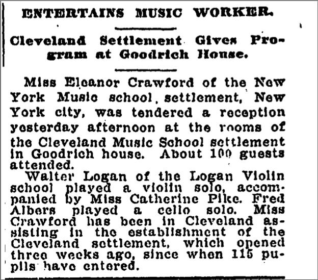 Plain Dealer Article, 1912