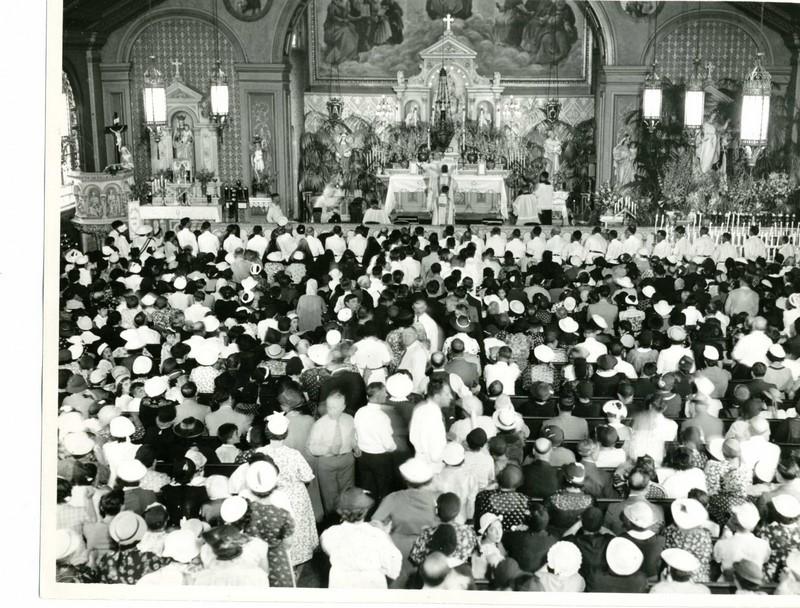Crowds Gather to Worship