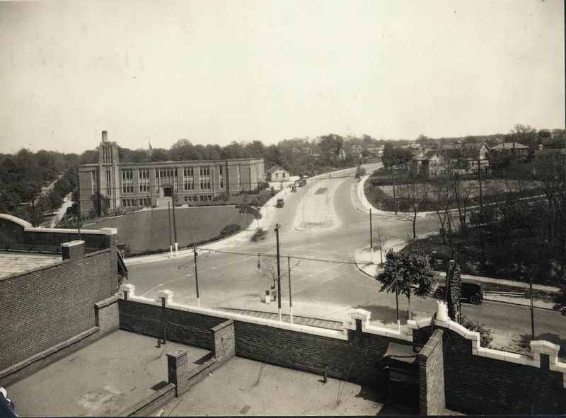 Coventry School Viewed from Top of Heights Art Theatre, 1922