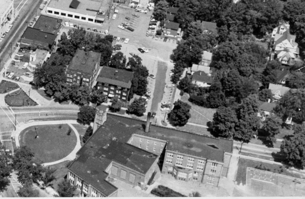 Aerial View of Coventry School, ca. 1960s