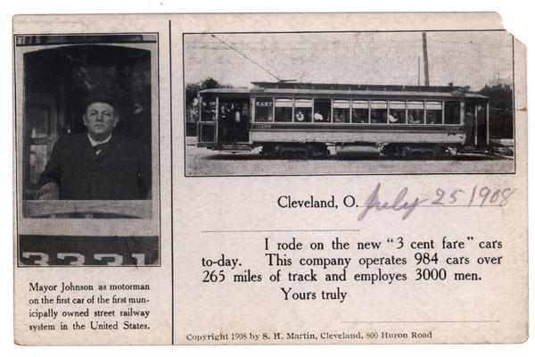 Three Cent Fare Card