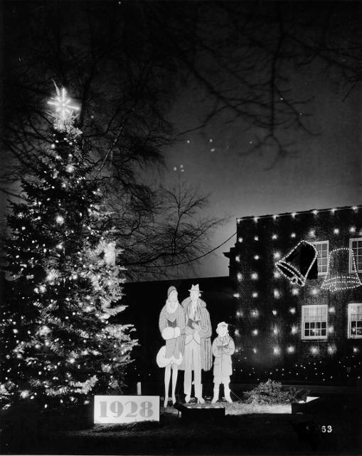 Holiday Light Display, 1928