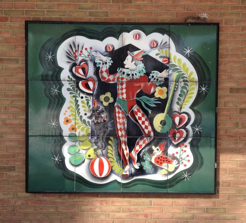 Alpine Village Mural at LCCC, 2014