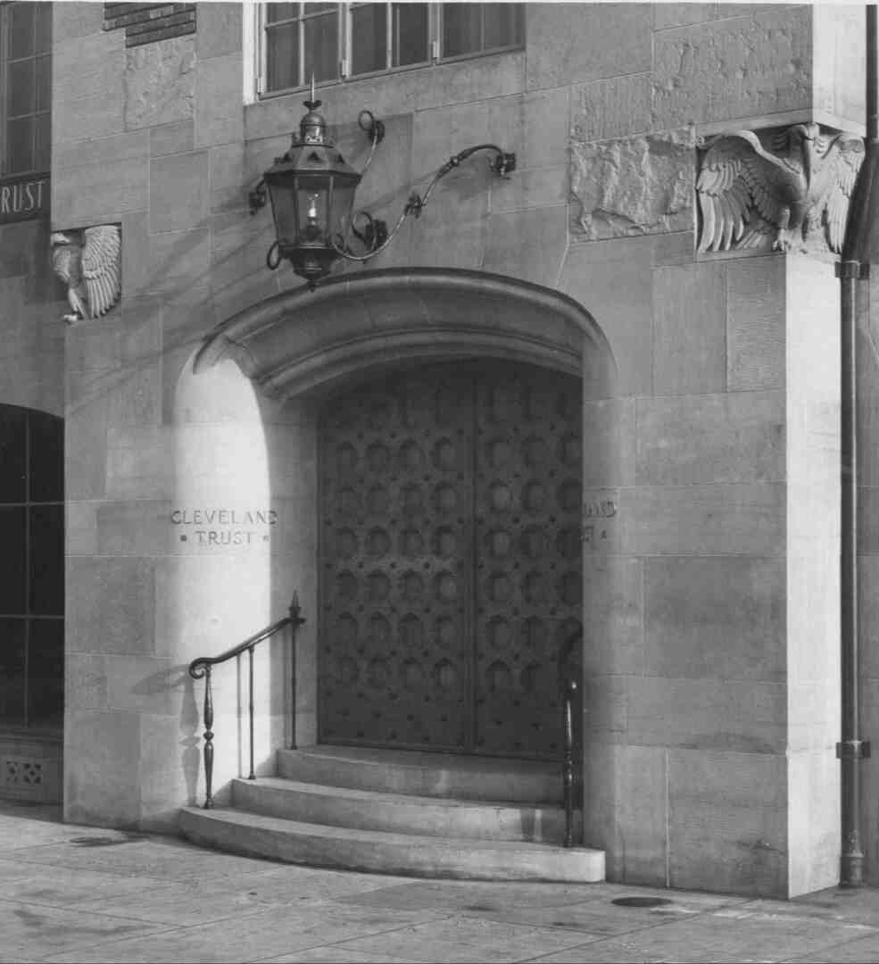 Cleveland Trust Entrance, Circa 1930