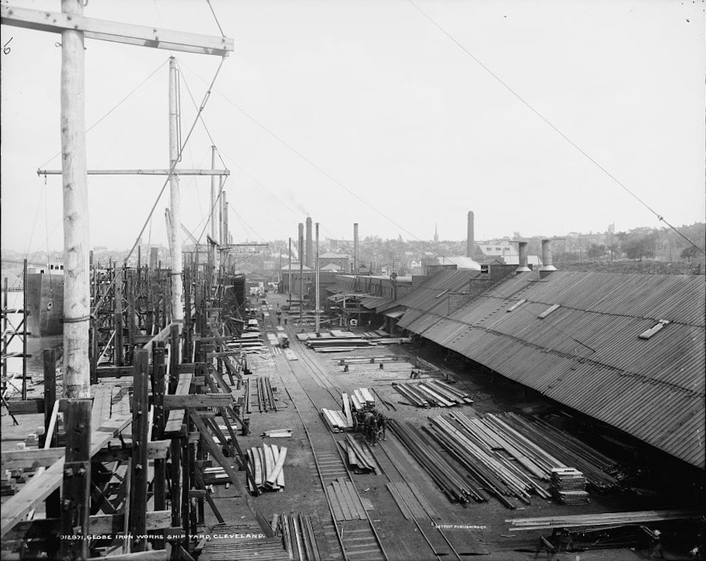 Globe Ship Yard in circa 1900