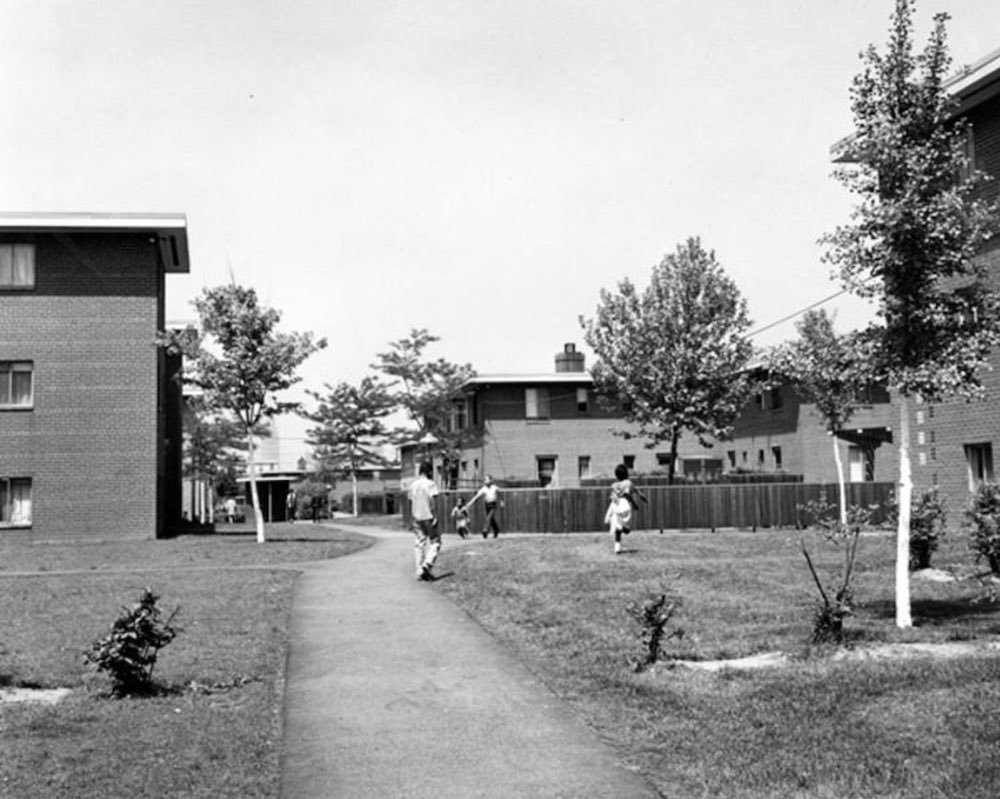 Playground at Longwood Apartments, 1964