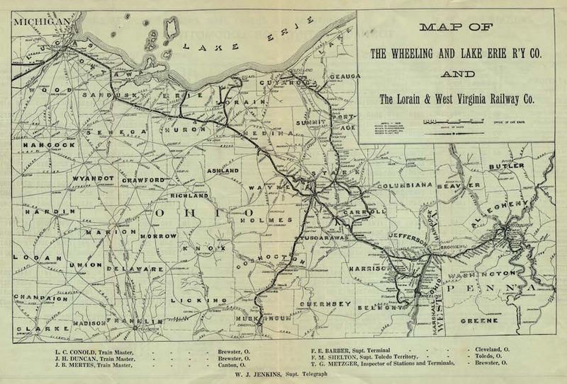 W. & L. E. Map, 1910
