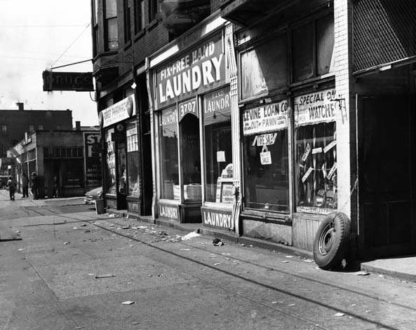 Street Scene of Woodland Avenue