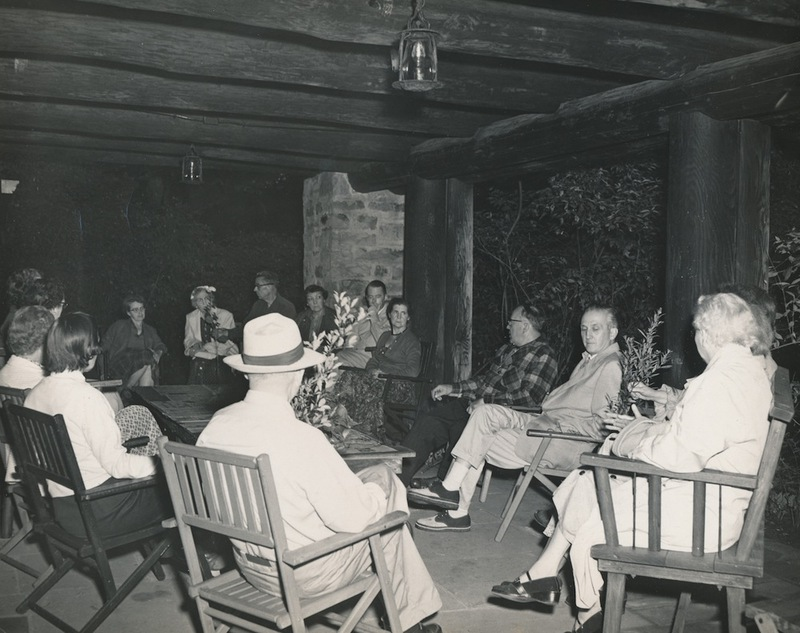 Look About Lodge Porch, ca 1950