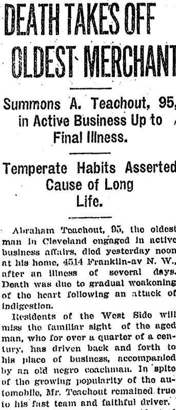 Cleveland's oldest merchant dies