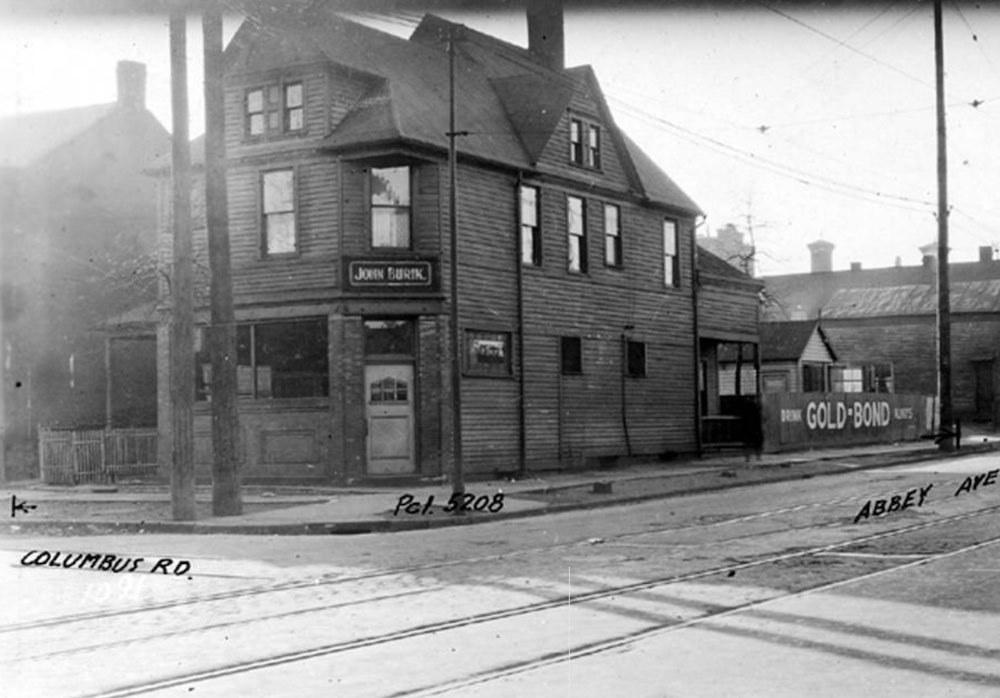 John Burik's Saloon at 2066 Columbus Road, ca. 1922