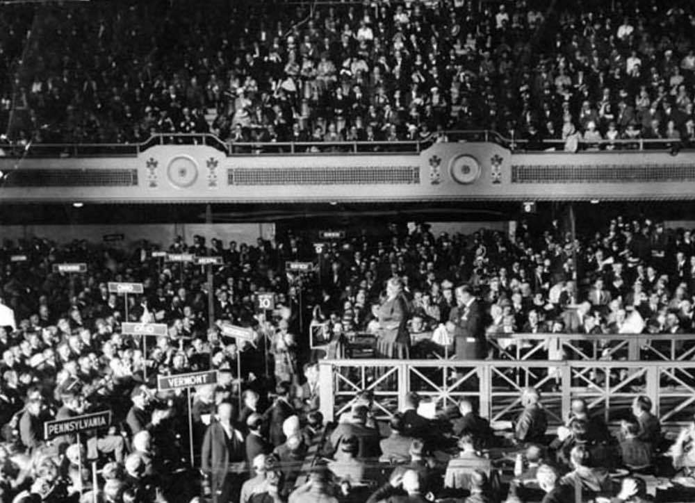 Crowd Inside Convention, 1924