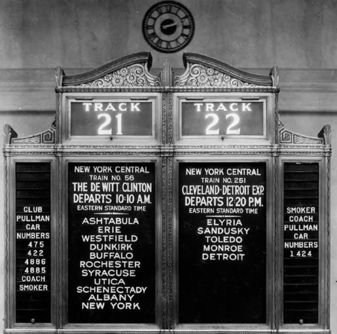 Train Schedule, 1930