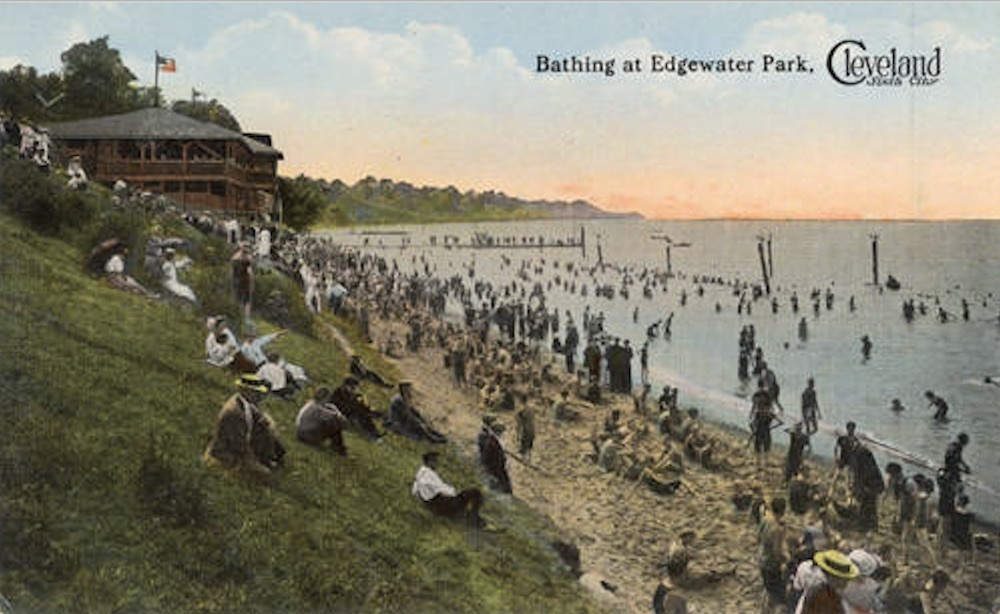 Typical Postcard View of Cleveland's Lakefront Parks, ca. 1910s