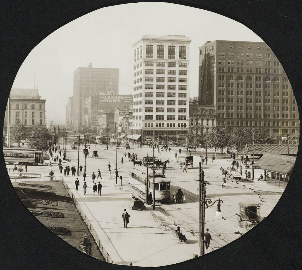Looking West Across Public Square