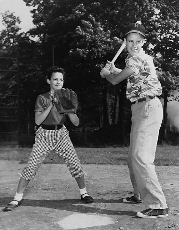 Shaker Students Playing Baseball, 1955