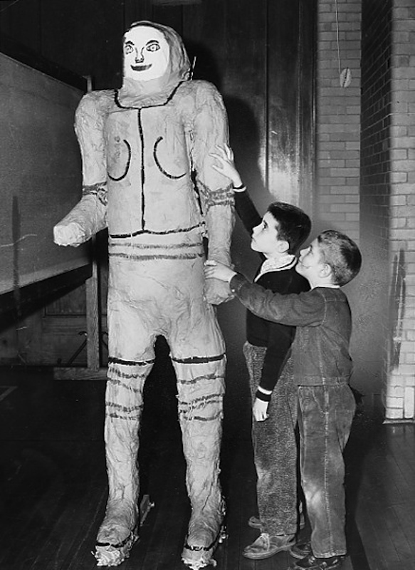 Students With Astronaut, 1960