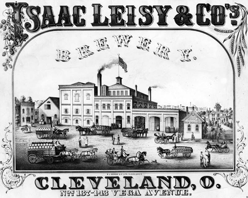 Leisy Brewery Lithograph