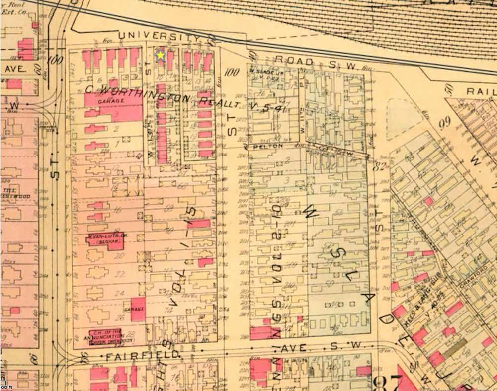 Map Detail of Tremont, 1921
