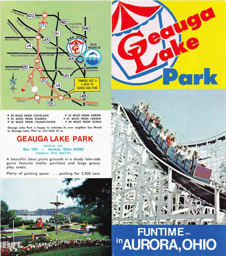 Geauga Lake Brochure, Early 1970s