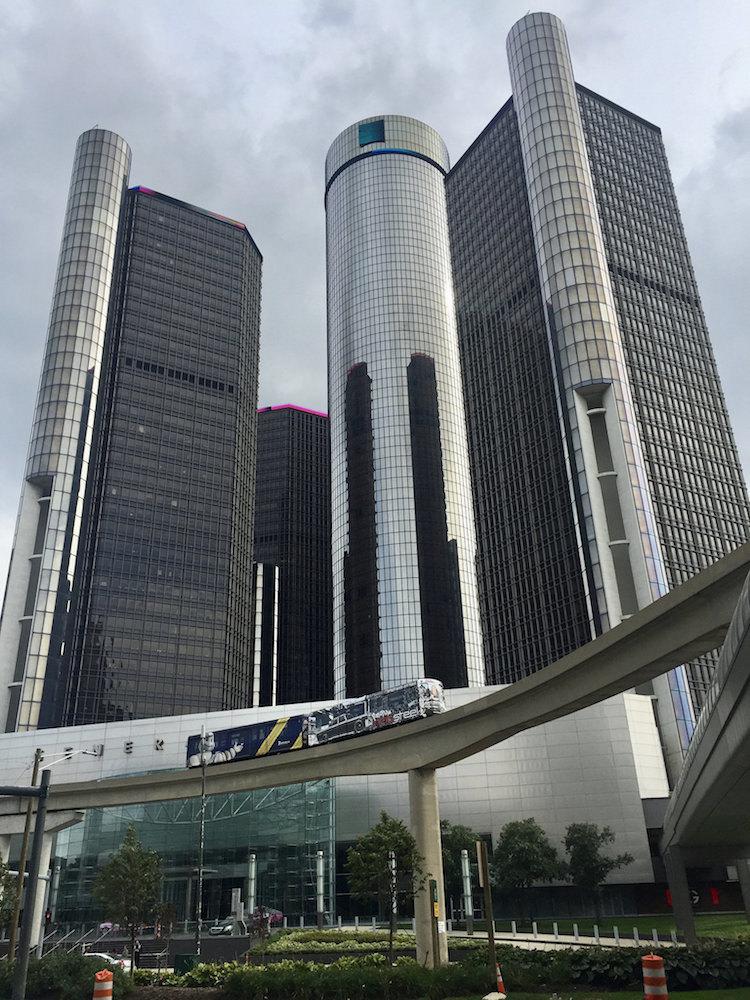 Detroit People Mover at Renaissance Center, 2016