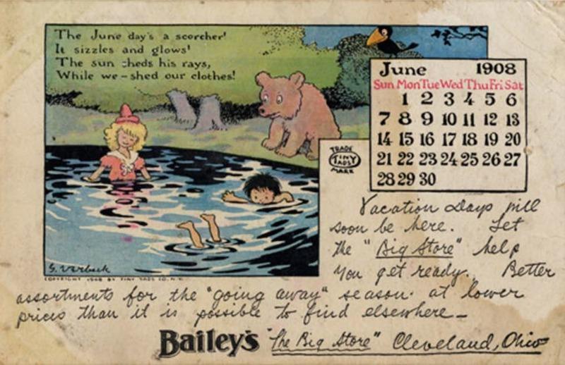 Bailey's Postcard, 1908