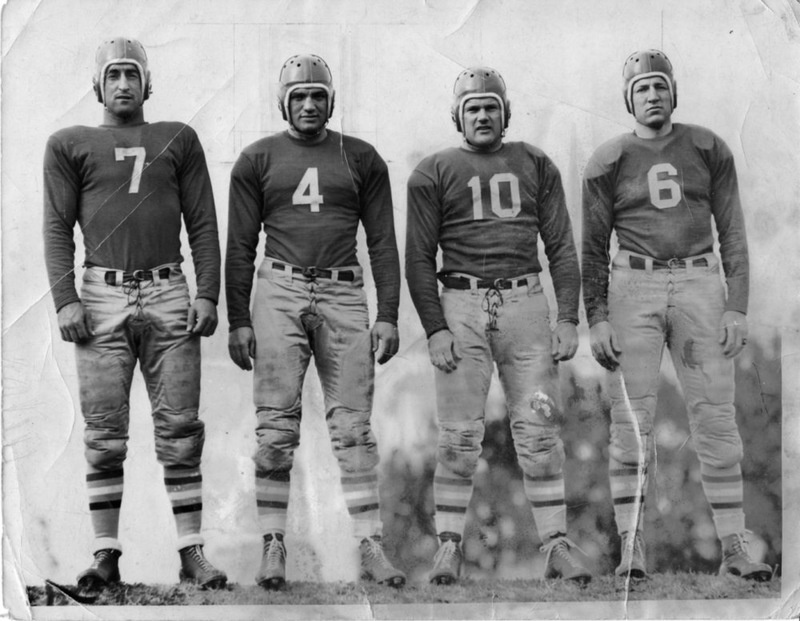 """Buzz"" Wetzel and Rams Players, 1936"