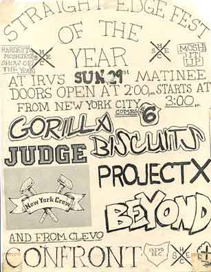 Matinee straight edge show at Irv's, May 1988