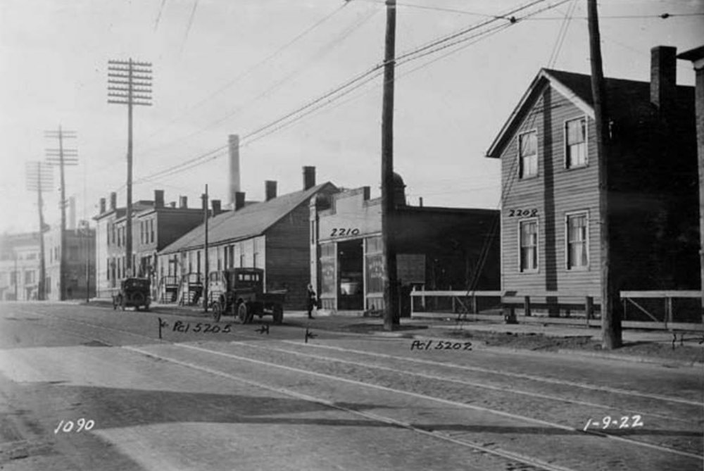 North Side of Abbey Avenue Looking West, ca., 1922
