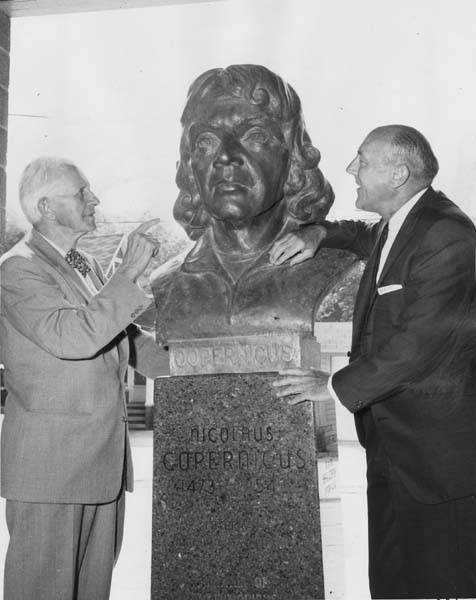 Ben Stefanski with sculpture