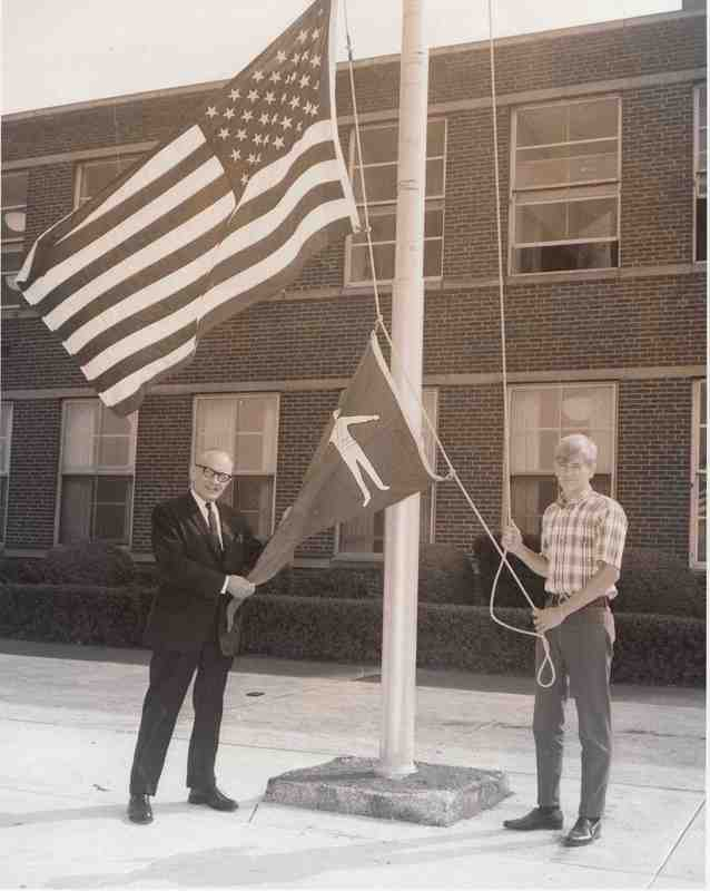 Mayor Edgerton With Student, 1967