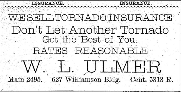 Insurance Advertisement, April 29, 1909