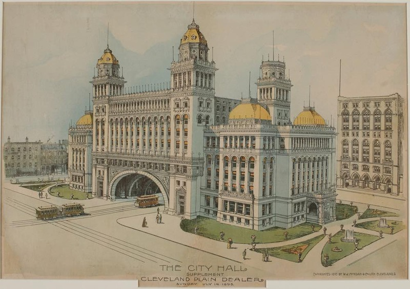 Proposed City Hall, 1895