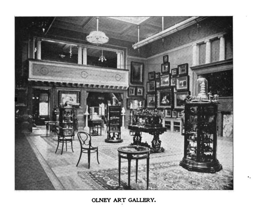 Olney Art Gallery, ca. 1896
