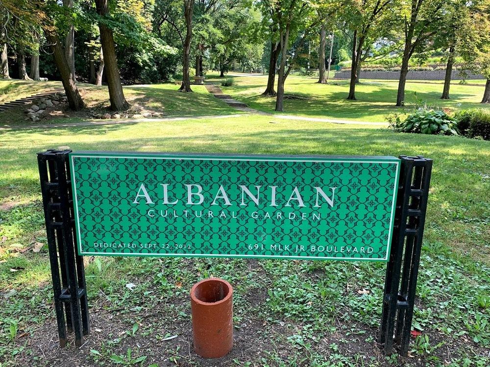 Albanian Cultural Garden Sign