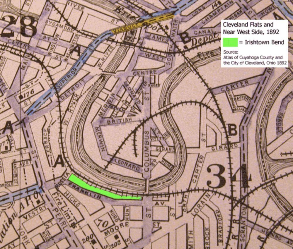 Map of Irishtown Bend