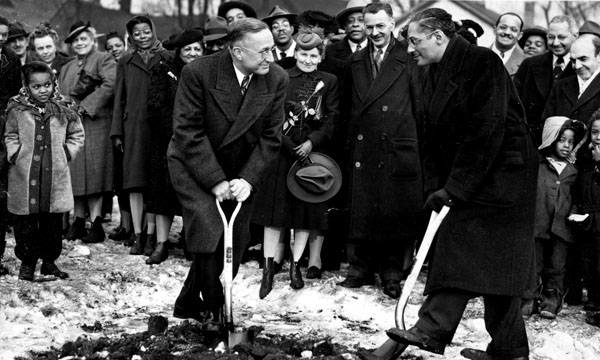 Karamu House Groundbreaking, 1945