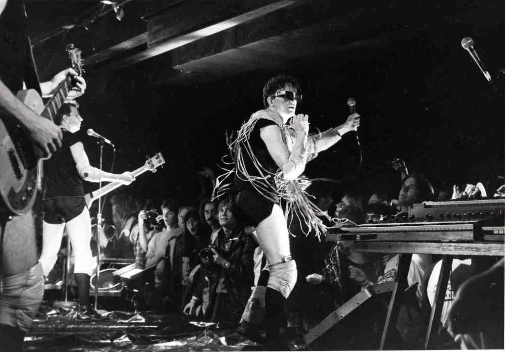 Devo onstage at the Agora, ca. 1978