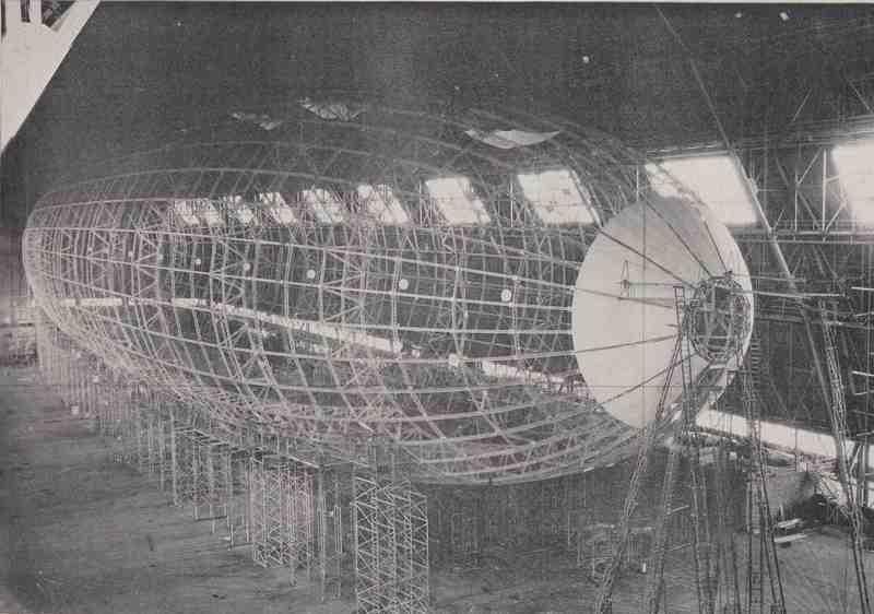 USS Akron Construction