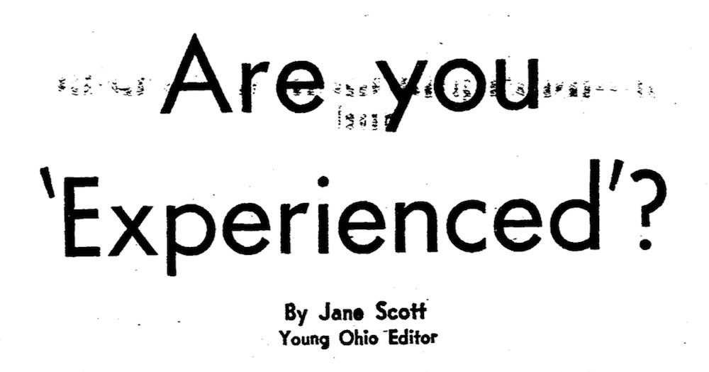 Are You 'Experienced'?