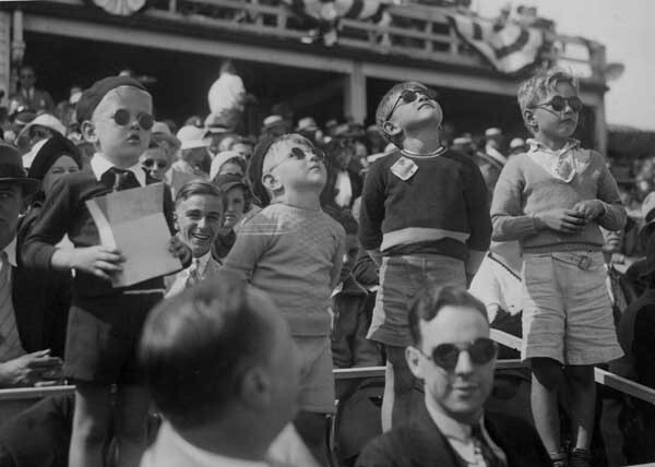 Kids At 1935 Air Races