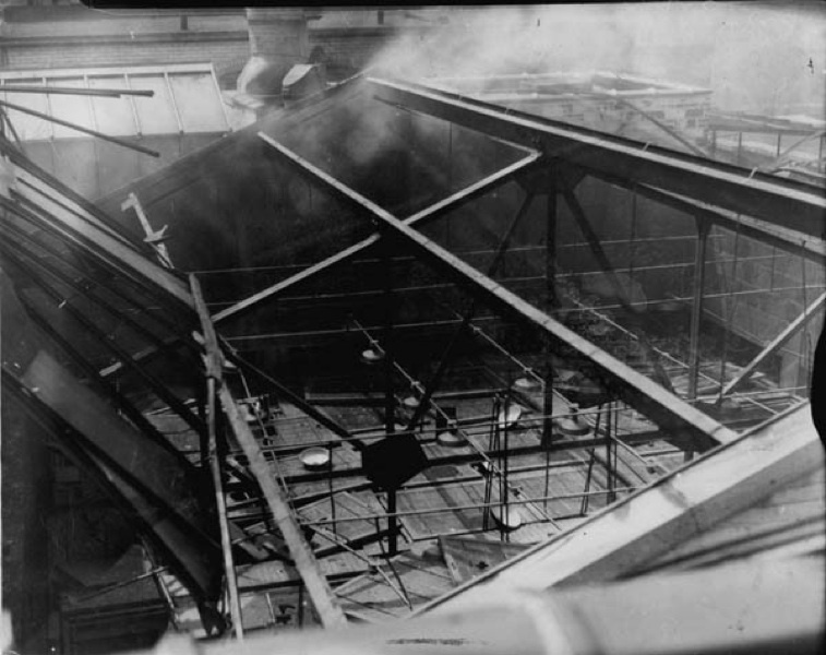 Damage to the Roof of the Cleveland Clinic