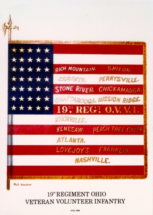 The 19th Ohio Volunteer Infantry Flag